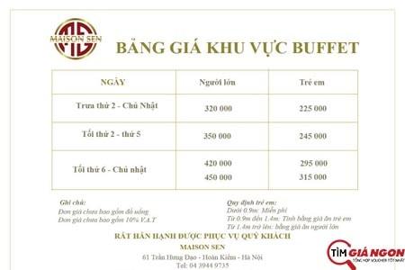 bang-gia-buffet-maison-sen